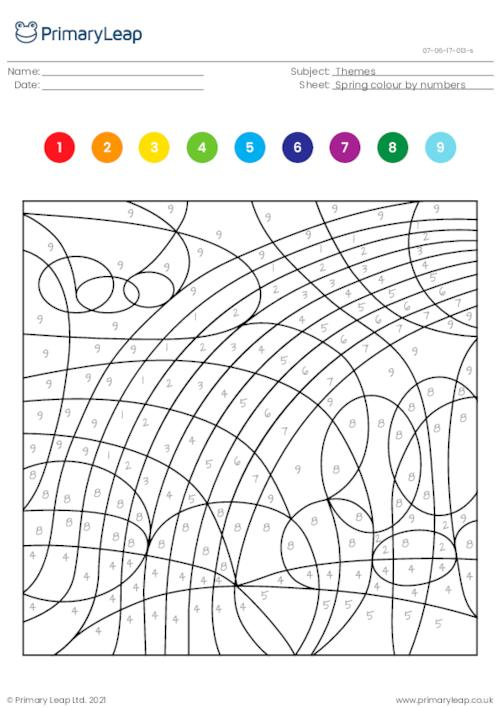 Colour by numbers - Rainbow