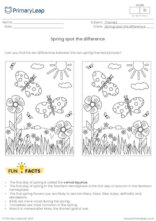 Spring spot the difference