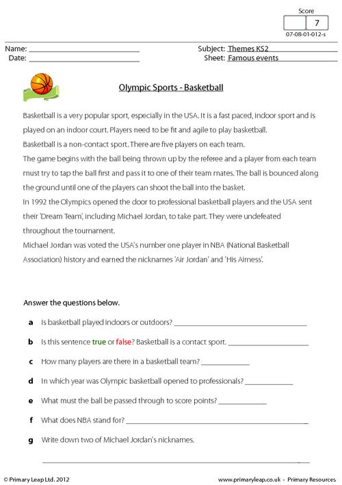 Olympic Sports - Basketball