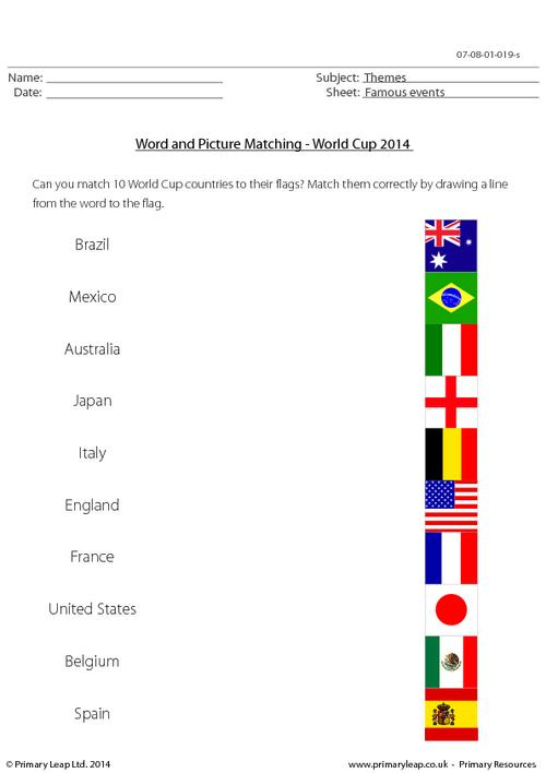 World Cup 2014 - Word and Picture Matching