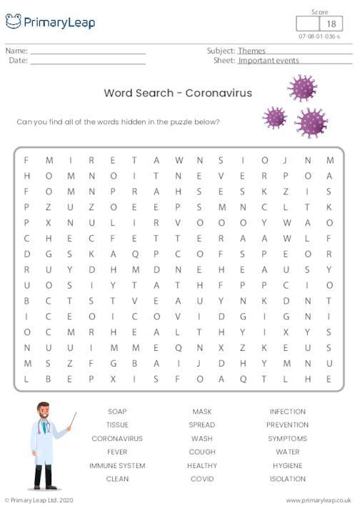 Word Search - Coronavirus