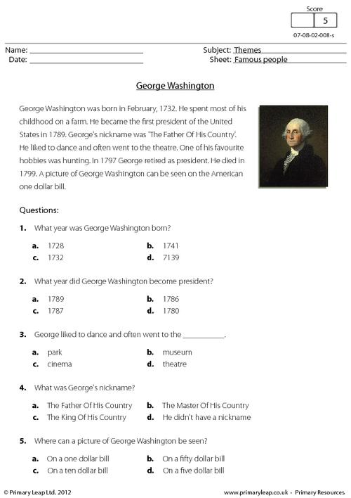 Comprehension - George Washington