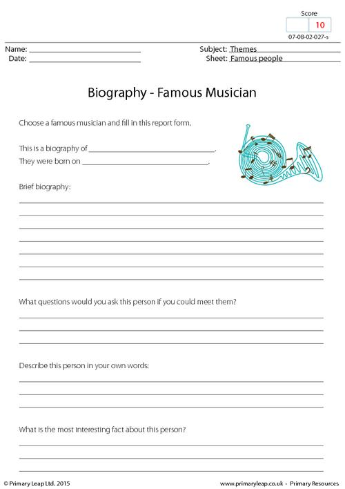 Biography - Famous Musician