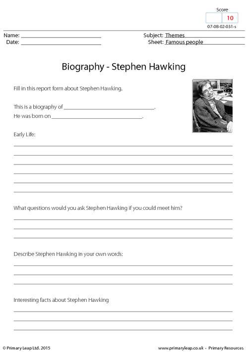 Biography - Stephen Hawking