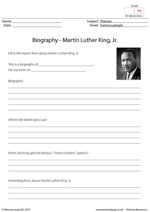 Biography - Martin Luther King, Jr.