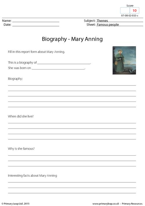 Biography - Mary Anning