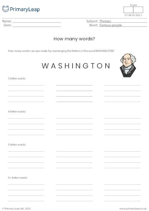 Washington - How many words?