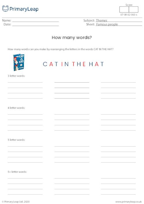 Cat in the hat - How many words?