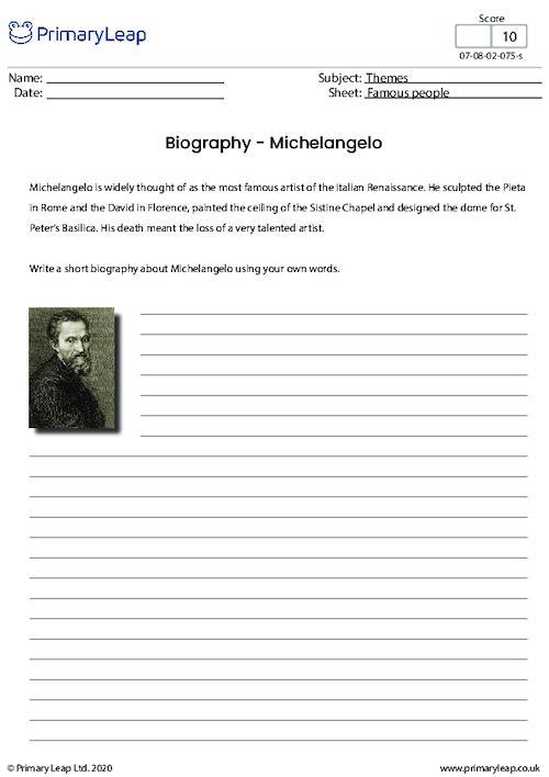 Biography - Michelangelo