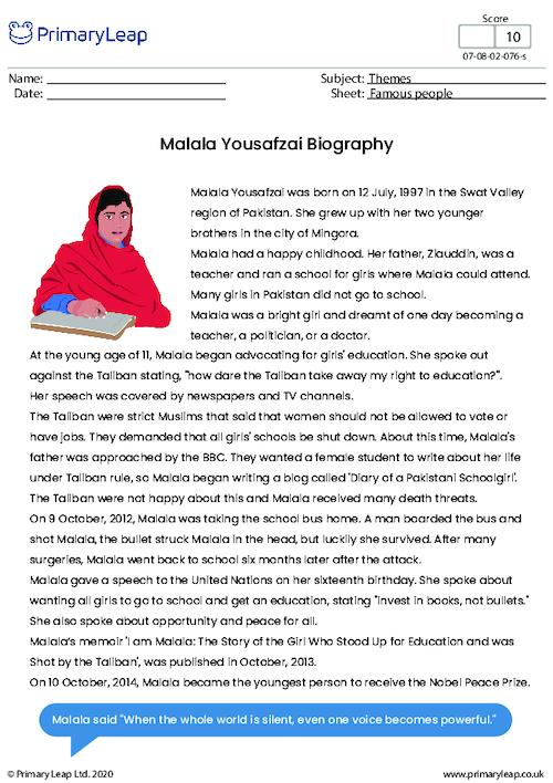 Biography - Malala Yousafzai