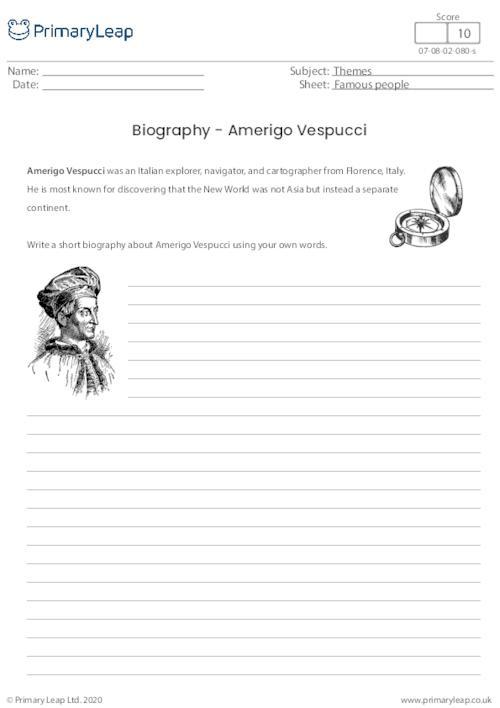 Biography - Amerigo Vespucci