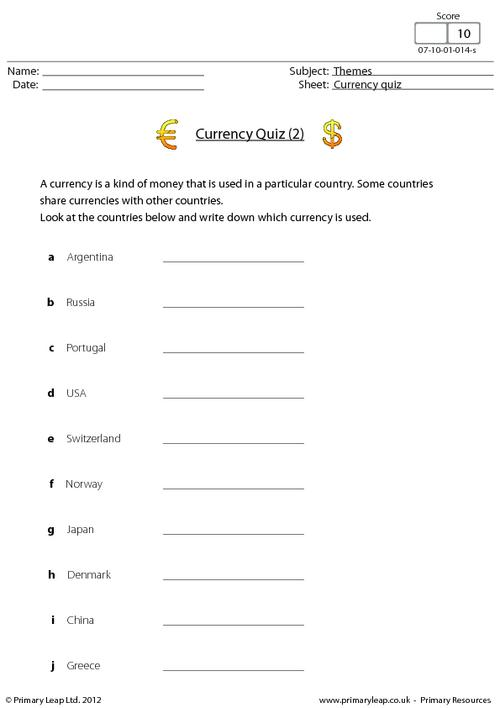 Currency quiz (2)