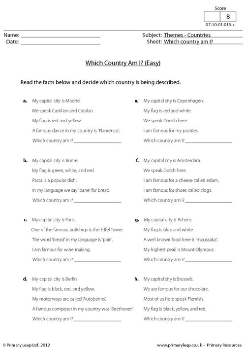 Which Country Am I? (easy)