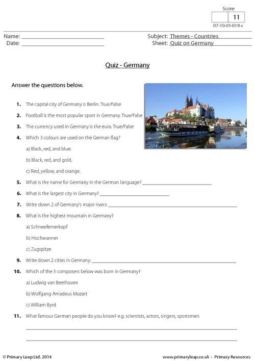 Quiz on Germany