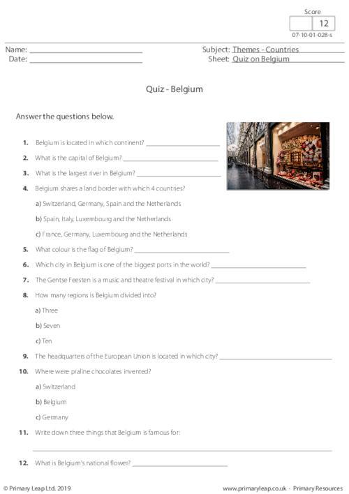 Quiz on Belgium