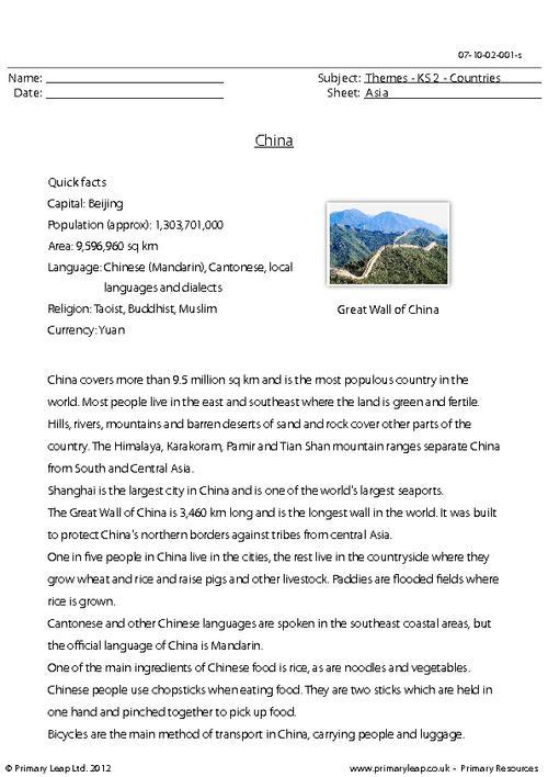 Countries - China