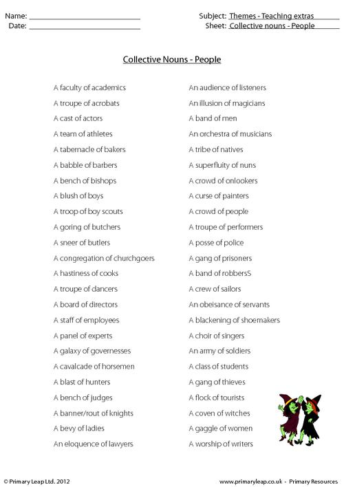 Collective nouns - People
