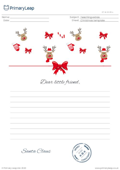 Letter from Santa template