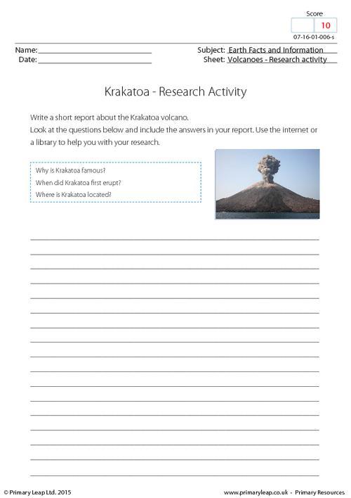 Research activity - Krakatoa