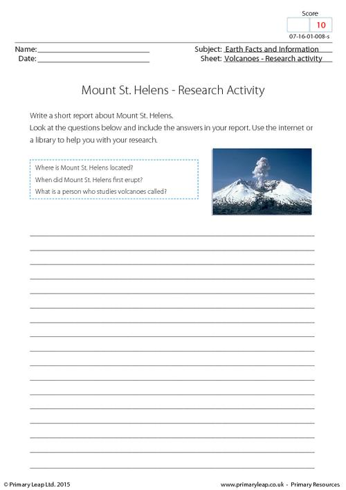 Research activity - Mount St. Helens