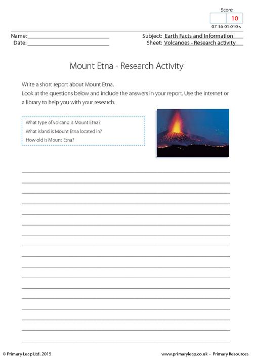 Research activity - Mount Etna