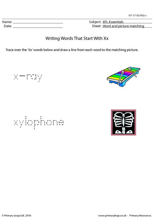 EFL Essentials - Words That Start With Xx