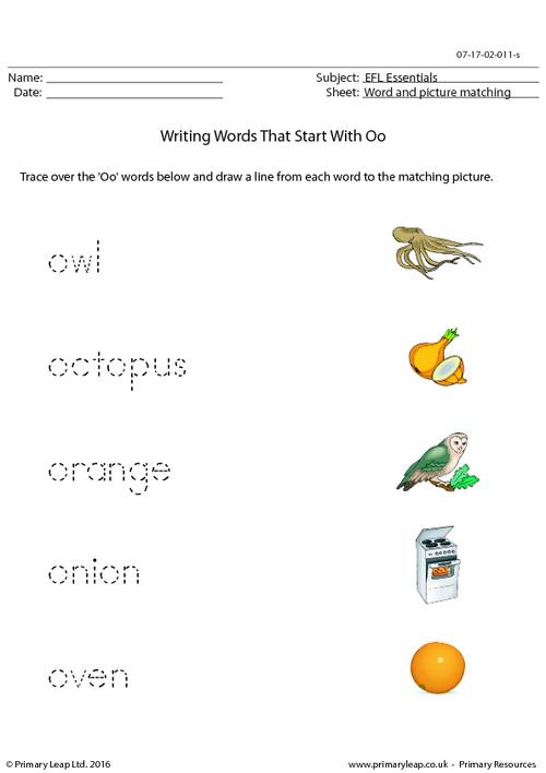 EFL Essentials - Words That Start With Oo