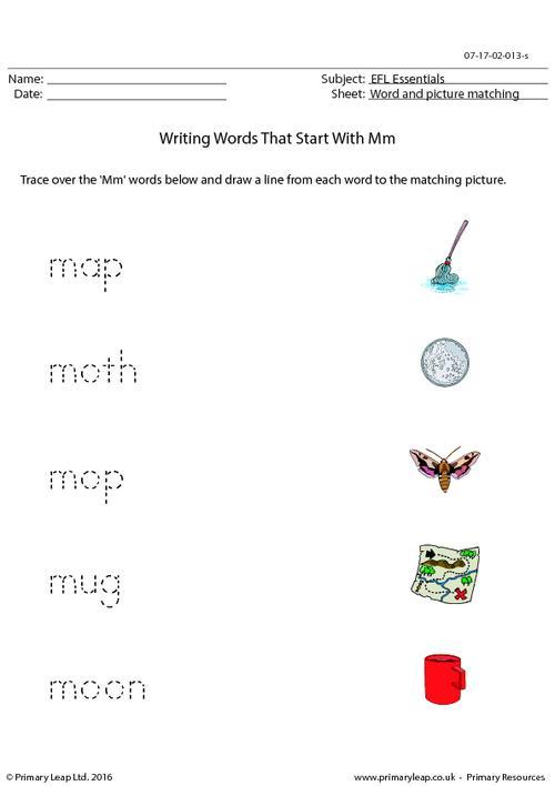 EFL Essentials - Words That Start With Mm