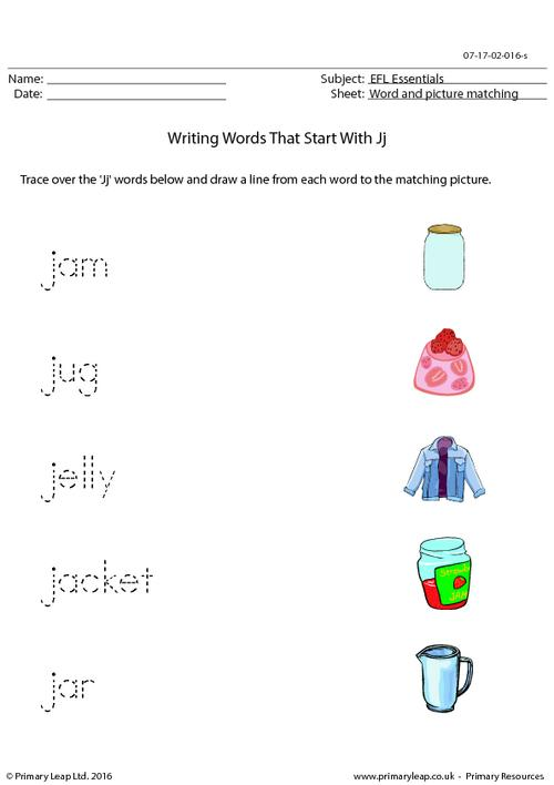 EFL Essentials - Words That Start With Jj