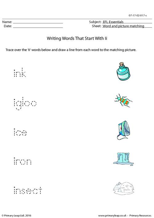 EFL Essentials - Words That Start With Ii