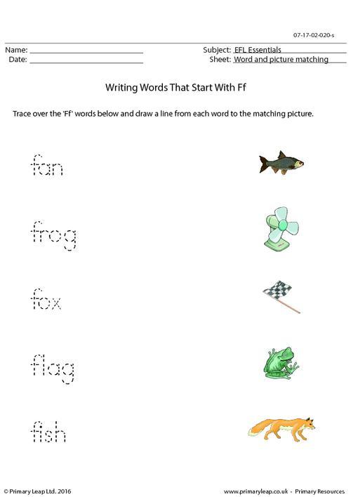EFL Essentials - Words That Start With Ff