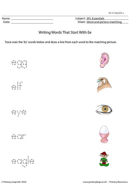 EFL Essentials - Words That Start With Ee