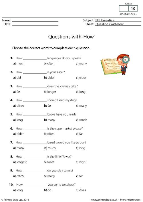 Questions with 'How'