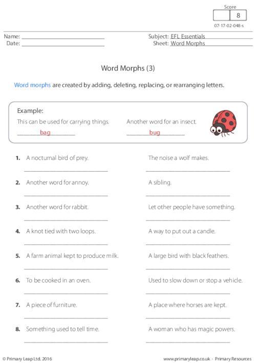 Word Morphs (3)