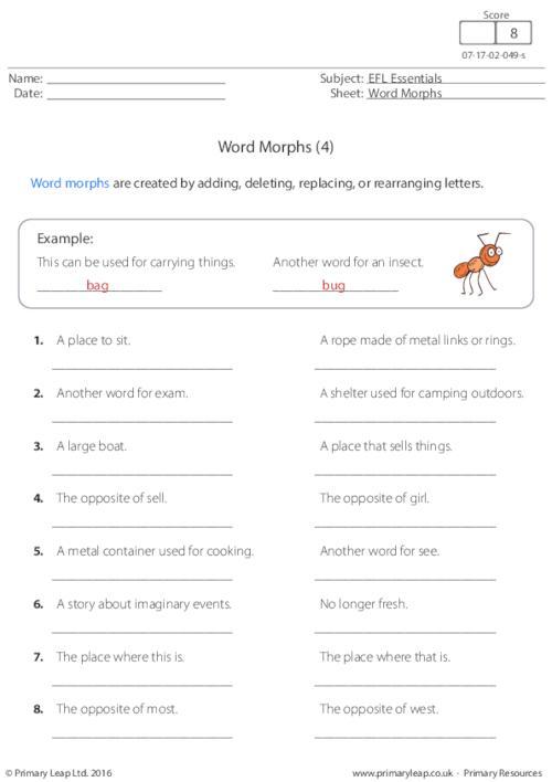 Word Morphs (4)
