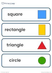 Shapes vocabulary cards
