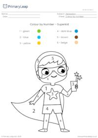 Colour by Number - Superkid