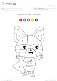 Colour by Number - Superdog