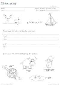 Alphabet tracing - Letter Yy