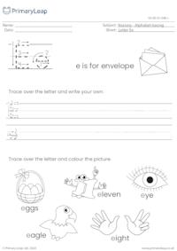 Alphabet tracing - Letter Ee
