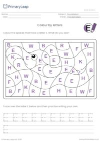 Colour by letters - Elephant