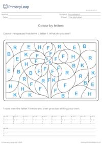 Colour by letters - Flower