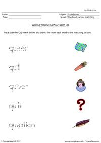 Words starting with Qq
