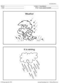 Early Reader Booklet - Weather