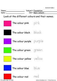 Basic colours