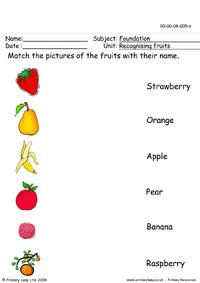 Recognising fruits