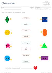 Word and picture matching - Shapes