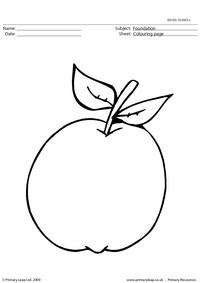 Apple colouring page