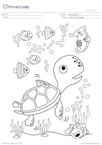 Colouring page - Sea turtle
