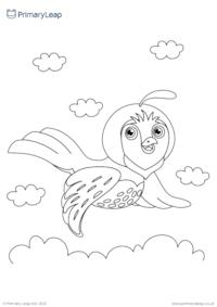 Bird colouring page